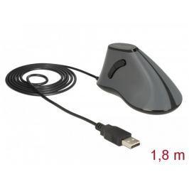DeLock Ergonomická vertikální optická 5-tlačítková USB myš