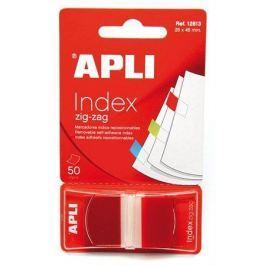 APLI Záložky se zásobníkem, 25x45 mm, ALPI, červené