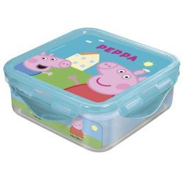 BANQUET Box svačinový PEPPA PIG 500 ml, 12,3x12,3x6,7 cm