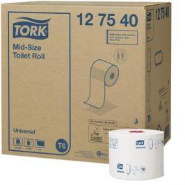 TORK Toaletní papír Universal, bílá, T6 system, mid-size,