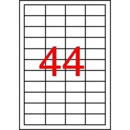 APLI Etiketa, průsvitná, matná, 48,5 x 25,4mm, voděodolná, polyester, 4400ks/bal., AP
