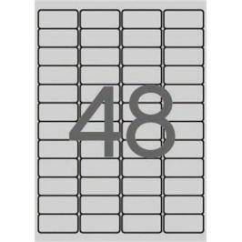 APLI Etiketa, stříbrná, 45,7 x 21,2mm, zaoblené rohy, voděodolná, polyester, 4800ks/b