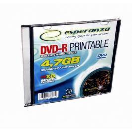 Esperanza DVD-R [ slim jewel case 1 | 4.7GB | 16x | pro potisk ] - karton 200 ks