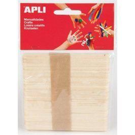 APLI Dřívka – špachtle Creative, přírodní, dřevěná,