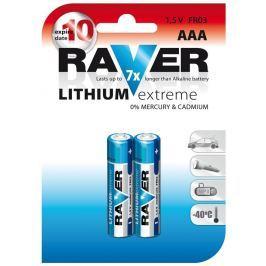 Raver baterie lithiová FR03 (AAA,mikrotužka), 2 ks v blistru