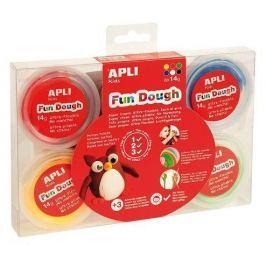 APLI Plastelína, 84 g , , základní barvy, Fun Dough displej