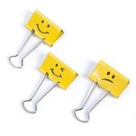 RAPESCO Klipy na dokumenty Emoji, žlutá, 32 mm,