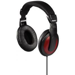 HAMA Sluchátka  HK-5618 - černá/červená