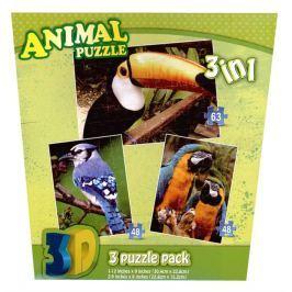 3D puzzle Tropičtí ptáci 3D 3v1