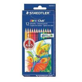 STAEDTLER Barevné pastelky Noris Club, 12 barev, šestihranné,