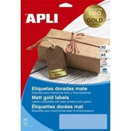 APLI Etikety, matná zlatá, 63,5x29,6 mm, 540 ks/bal.,