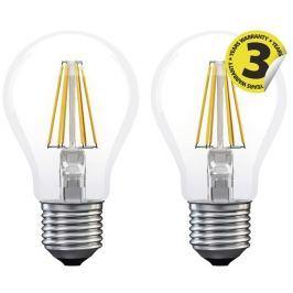 EMOS LED žárovka Filament A60 A++ 6W E27 teplá bílá 2ks