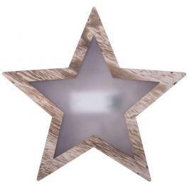 Emos LED dekorační řetěz 10LED XMAS WOOD STAR 3D 2AA WW