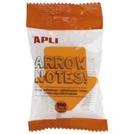 APLI Samolepicí bloček Arrow notes, tvar šipky, 200 listů,