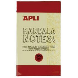 APLI Samolepicí bloček Mandala notes, s potiskem, 125x75 mm, 100 listů,