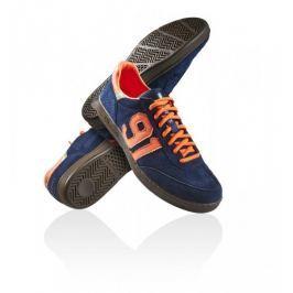 Salming Pánská obuv  NinetyOne Black/Green, 7,5, modro-oranžová