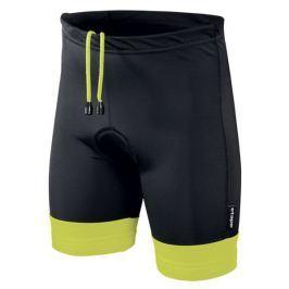 Etape Dětské kalhoty s vložkou  Junior, 116 - 122, Černá/žlutá fluo