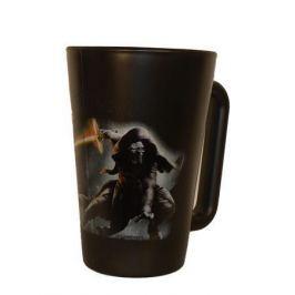 NO NAME Skleněný hrnek, černá, motiv Star Wars Kylo Ren, 270ml