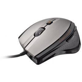 TRUST Myš Max Track, černo-šedá, BlueTrack, drátová, větší velikost, USB,