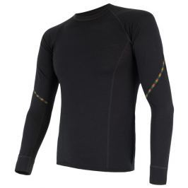 Sensor Pánské triko s dl.rukávem  MERINO AIR, L, Černá