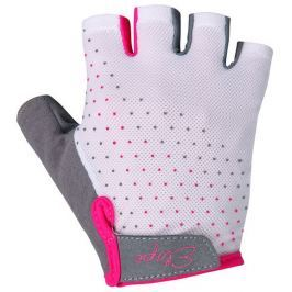 Etape Dámské rukavice  MIA, L, Bílá/růžová