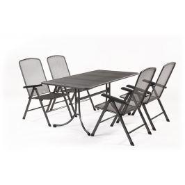 MWH Basani 4+ sestava nábytku z tahokovu (4x pol. křeslo Savoy Basic, 1x stůl Universal 160)