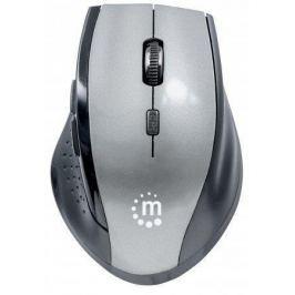 Manhattan Myš, bezdrátová, optická, standardní vel.,  Curve, černá-šedá