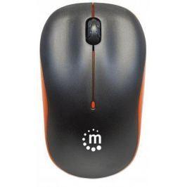Manhattan Myš, bezdrátová, optická, střední vel.,  Succes, černá-oranžová