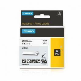 DYMO Páska, 24 mm x 5,5 m,  Rhino, bílá-černá