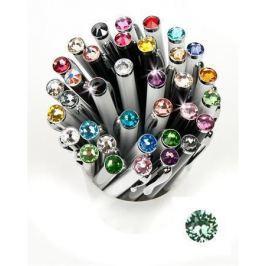 ART CRYSTELLA Kuličkové pero,  SWAROVSKI(R) Crystals, bílá, 14cm Elegante, krystal Peridot zel