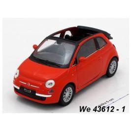 Welly - Fiat 500C (2010) model 1:34 červený