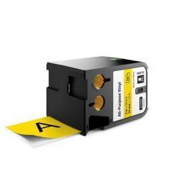 DYMO Páska XTL, čená-žlutá, vinyl, 54 x 7 mm,