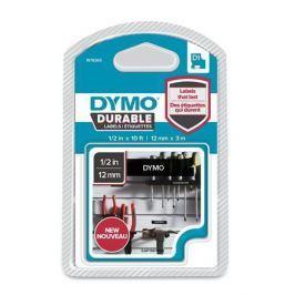 DYMO Páska D1 Durable, bílá na černé,  12 mm x 3 m,