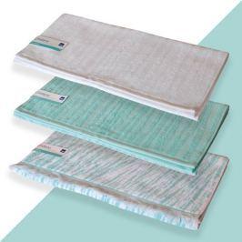 KELA Ručník LINDANO 50x100 cm, sada 3 ks bílá,mentolová, zelená/bílá