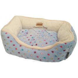 Pelíšek s puntíky Extra soft Bed XS 47cm-modrá-89024YF
