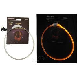 Svítící LED obojek-transparentní-S-35cm-ŽLUTÁ-13389