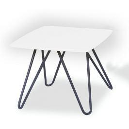 Tempo Kondela Konferenční stolek, bílá vysoký lesk / černá, KANER 1