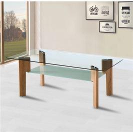 Tempo Kondela Konferenční stolek, MDF foliovaná, dub sonoma + sklo, ADELO