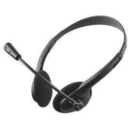 TRUST Sluchátka Ziva Chat, černá, s mikrofonem, drátová, 3,5 mm jack,