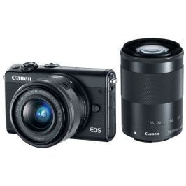 Canon EOS M100 Black + EF-M 15-45mm f/3.5-6.3 IS STM + EF-M 55-200mm f/4.5-6.3 I