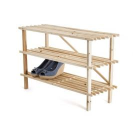 VETRO-PLUS Botník dřevěný 26 x 74 x 48,5 cm, 3 police