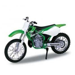 Welly - Motocykl Kawasaki KX250 (2002) model 1:18 zelená - poškozený obal