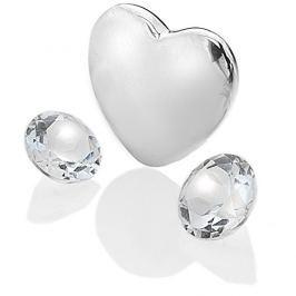 Hot Diamonds Element srdce s čirými topazy Anais Duben EX123