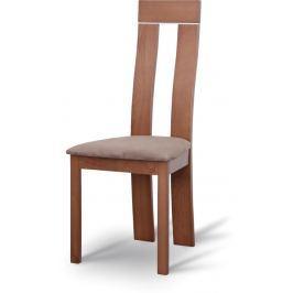 Tempo Kondela Dřevěná židle, třešeň/látka hnédá, DESI
