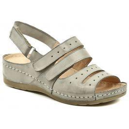 Wasak Wawel GR1100 šedé dámské sandály na klínku, 40