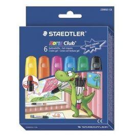 STAEDTLER Voskovky Noris Club, 6 efektních barev, gelové,