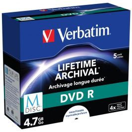 Verbatim DVD R  4,7 GB M-Disc 4x Printable jewel box, 5ks/pack