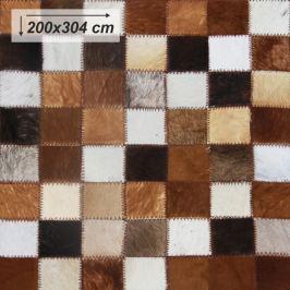 Tempo Kondela Luxusní koberec, kůže, typ patchworku, 200x304 cm, KOBEREC KOŽA typ3