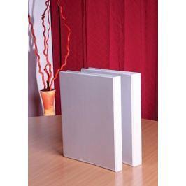 VICTORIA Pořadač čtyřkroužkový, bílý, průhledný kryt, 55 mm, A4, PP,