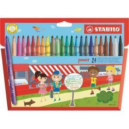 STABILO Fixy Power, sada 24 různých barev, 2 mm,